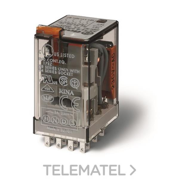 RELE INDUSTRIAL 12VDC 4 CONTACTOS 5A PUL en Gómez Moreno Material Eléctrico