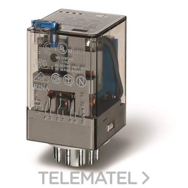 RELE INDUSTRIAL UNDECAL 12VDC 3 CONTACTO en Gómez Moreno Material Eléctrico